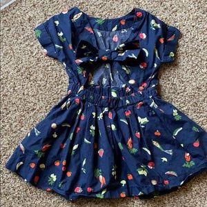 J.crew KIDS vegetable dress size 2